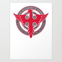 30 seconds to mars Art Prints featuring 30 Seconds to Mars by RockStamps