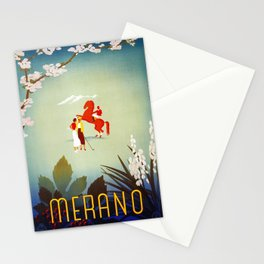 Horse riding, golf and tennis in 1920s Merano Stationery Cards