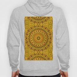Golden Lace Mandala Pattern Hoody