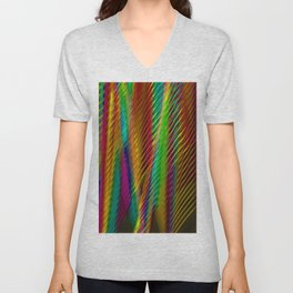 Feathers in Abstract Unisex V-Neck