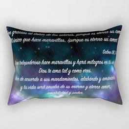Estrellas en galaxia - Salmo 136, 2-3 Rectangular Pillow