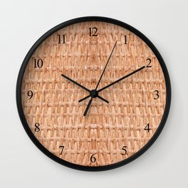 Beige interlace wooden texture abstract Wall Clock