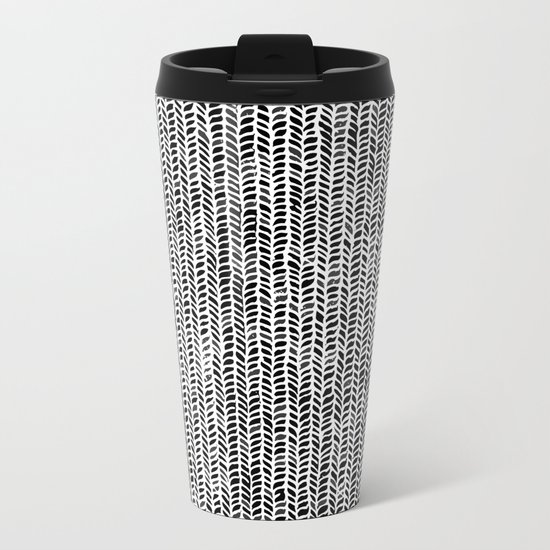 Stockinette Black Metal Travel Mug