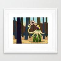 pie Framed Art Prints featuring Pie? by Megan Unser