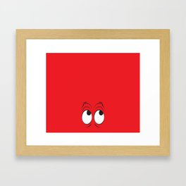 Monster Eyes Red Framed Art Print