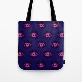 Eye See Blue Tote Bag