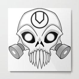Chaos Skull Metal Print