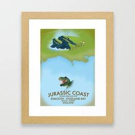 Jurassic Coast Southern England. Framed Art Print