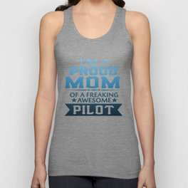 I'M A PROUD PILOT'S MOM Unisex Tank Top
