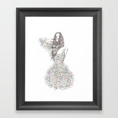 Flower Girl - pattern Framed Art Print