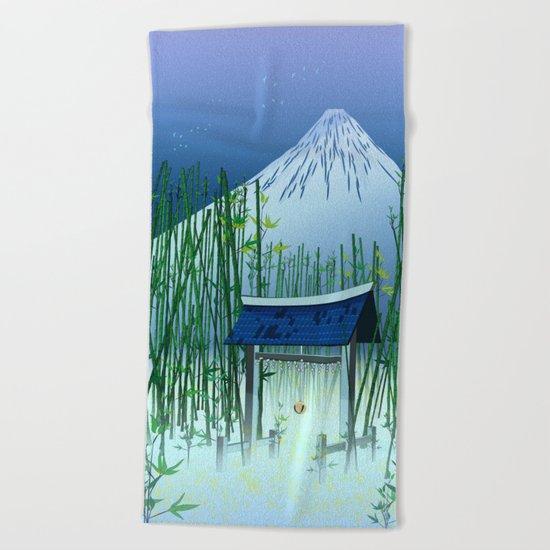 A moonless night Beach Towel