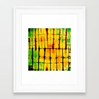 tye dye Framed Art Prints featuring PILLOW TYE DYE 101 by the artist J©