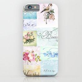 Wall Words Pastel Wall Art iPhone Case