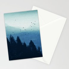 Blue Valmalenco - Alps at sunrise Stationery Cards