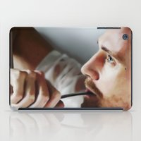 tom selleck iPad Cases featuring Tom Hiddleston by Kate Dunn