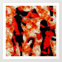 mom Art Prints featuring Mom by Vibrance MMN