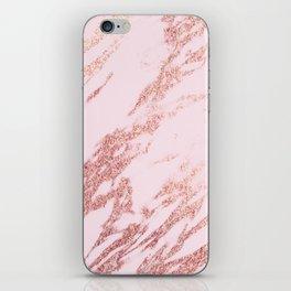 Pastel pink rose gold iPhone Skin