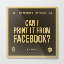 Facebook Metal Print