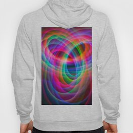Spirograph rainbow light painting Hoody