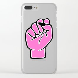 Pink female fist Clear iPhone Case
