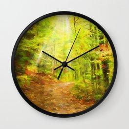 Autumns Light Wall Clock