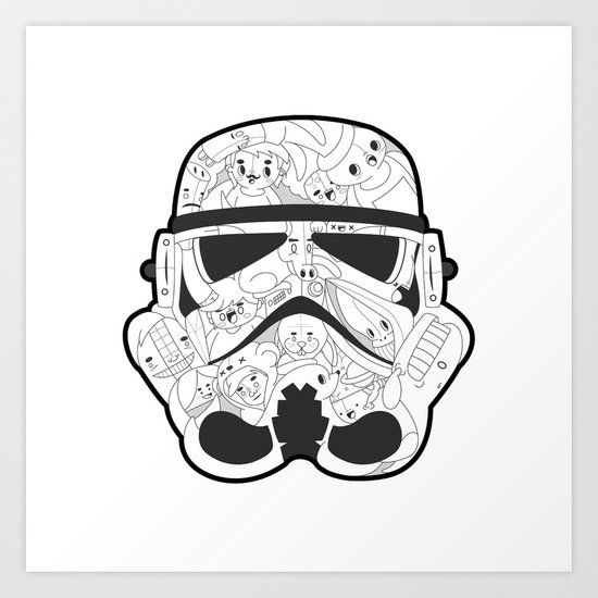 Stormtrooper Art Print by Santos | Society6