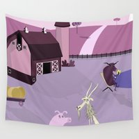 farm Wall Tapestries featuring Farm by Andrew Formosa