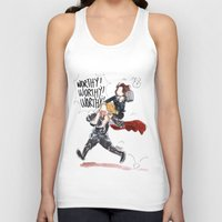 peggy carter Tank Tops featuring PEGGY CARTER IS WORTHY. by Maryne.