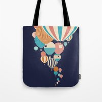 balloons Tote Bags featuring Balloons by Jay Fleck