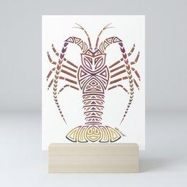 Tribal Caribbean Lobster Mini Art Print