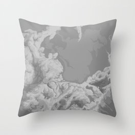 SPARSE CLOUDS Throw Pillow