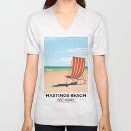 Hastings Beach Easy Sussex Unisex V-Neck