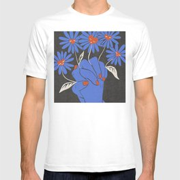 Love and Kindness Vintage Hands Flowers Hearts T-shirt