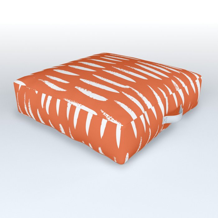 Brush Stroke Staccato Outdoor Floor Cushion