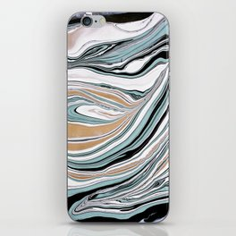 Teal Scape iPhone Skin
