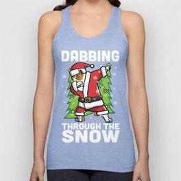 American Staffordshire Terrier Dabbing Through The Snow Christmas Unisex Tank Top