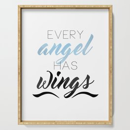 Every Angel Has Wings Serving Tray