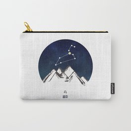 Astrology Leo Zodiac Horoscope Constellation Star Sign Watercolor Poster Wall Art Carry-All Pouch