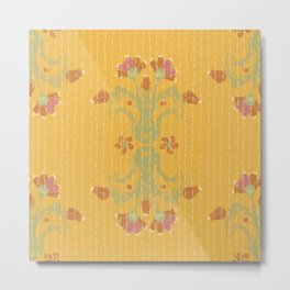 Kantha bouquet 2 Metal Print