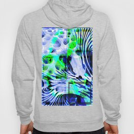Collage with circles and curved lines Hoody