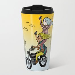 On the freedom experienced by Desert Bike Harpies.   Travel Mug