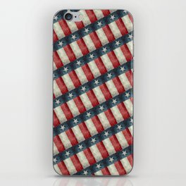 Vintage Texas flag pattern iPhone Skin