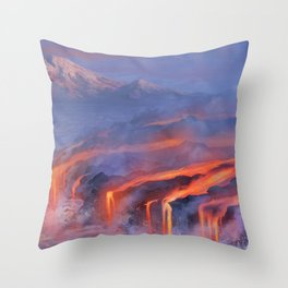 Water and Fire Throw Pillow