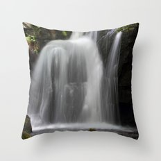 Waterfall at Lumsdale Mill Throw Pillow