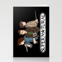 supernatural Stationery Cards featuring Supernatural by KewlZidane