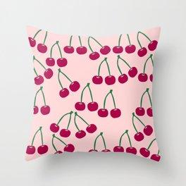 Cute Cherry pattern Throw Pillow