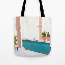 Alcove pool Tote Bag