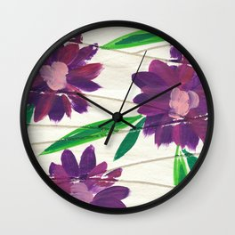 Retro Floral Wall Clock