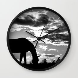 Evening Grazing II Wall Clock