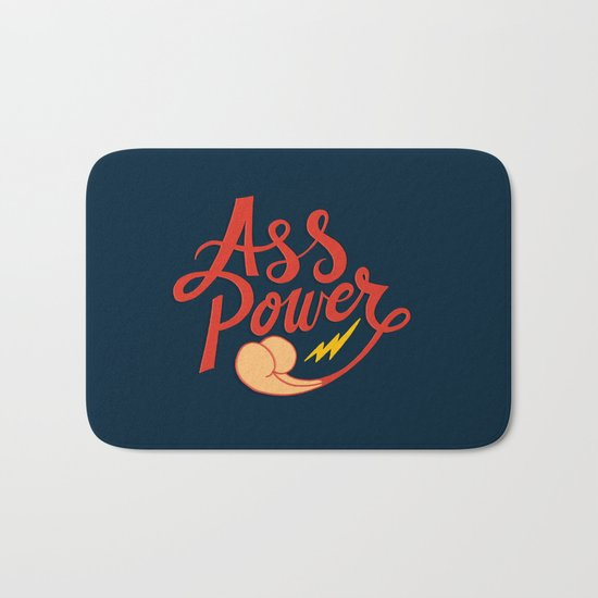 Ass Power Bath Mat